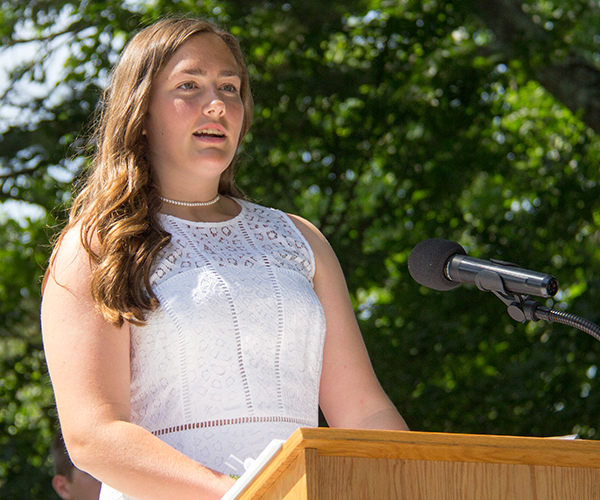 Abigail S Speaking at 2017 Ridgefield Academy Graduation
