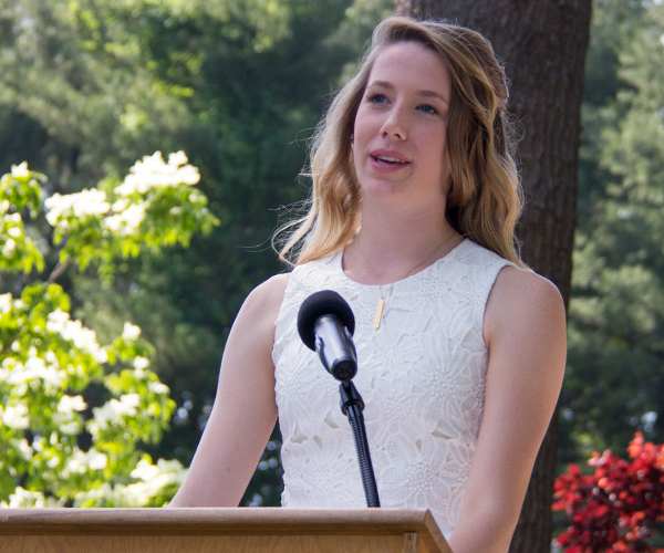 Alaina C Speaking at 2017 Ridgefield Academy Graduation