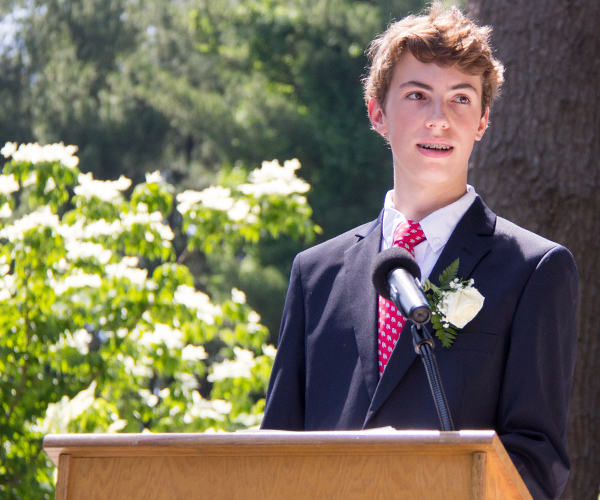 Andrew A Speaking at 2017 Ridgefield Academy Graduation