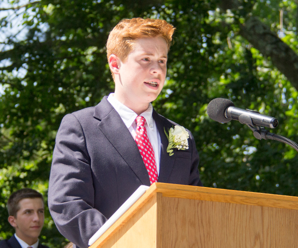 Chris C Speaking at 2017 Ridgefield Academy Graduation
