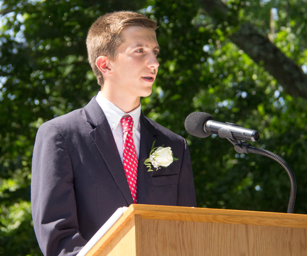 Chris S Speaking at 2017 Ridgefield Academy Graduation