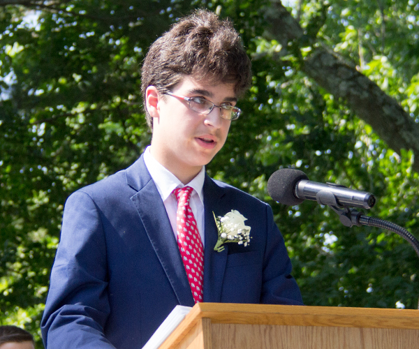 Julian S Speaking at 2017 Ridgefield Academy Graduation