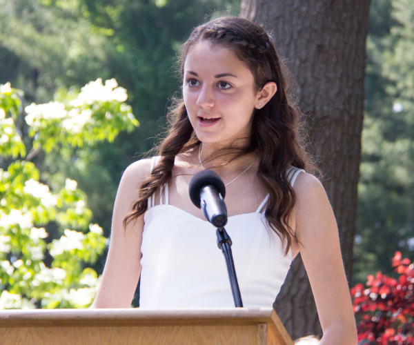 Kaela M Speaking at 2017 Ridgefield Academy Graduation