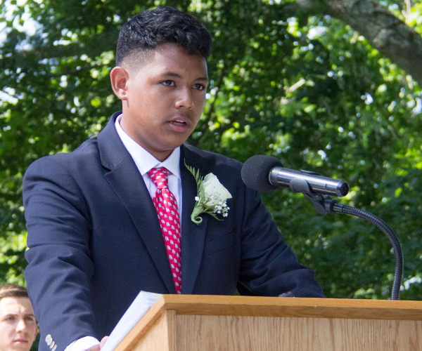 Max Z Speaking at 2017 Ridgefield Academy Graduation