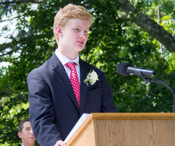 Pete H Speaking at 2017 Ridgefield Academy Graduation