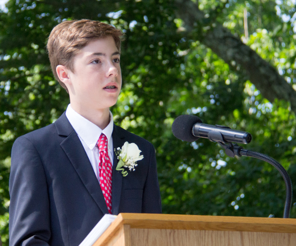 Ryan A Speaking at 2017 Ridgefield Academy Graduation