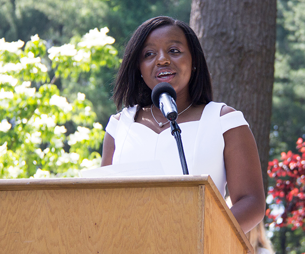 Simone M Speaking at 2017 Ridgefield Academy Graduation