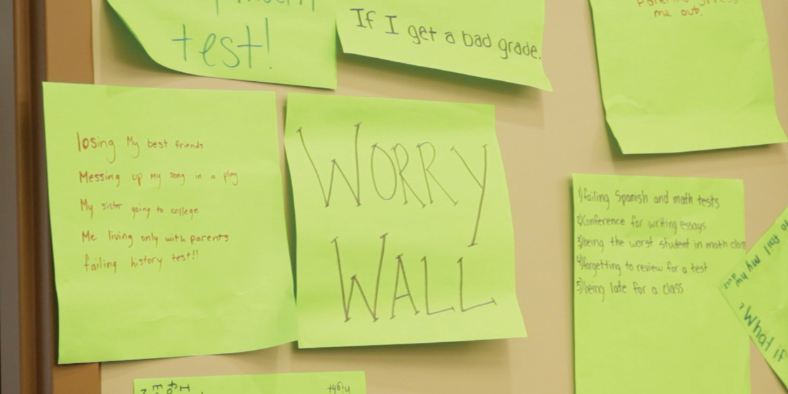 Ridgefield Academy Health and Wellness Worry Wall