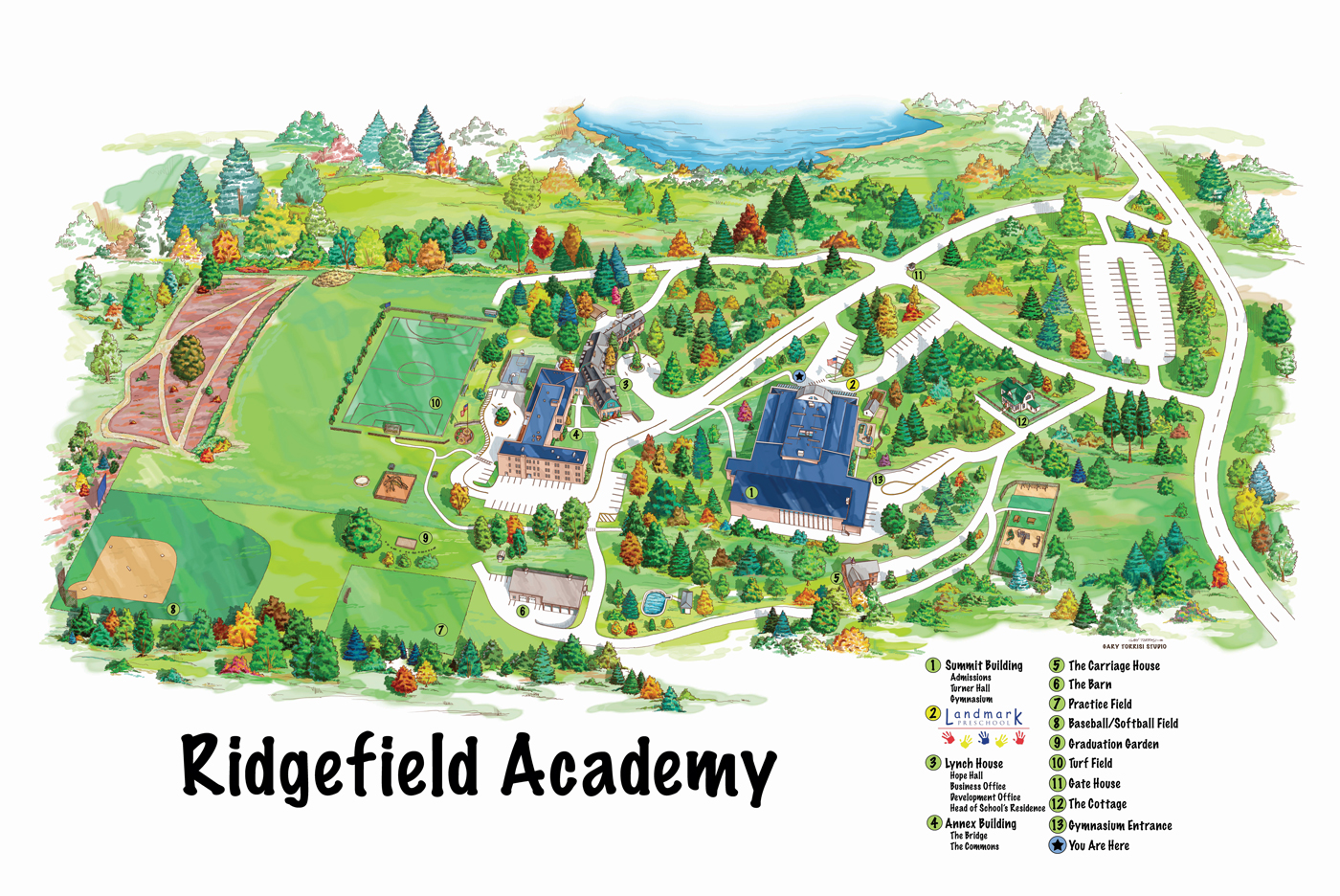 Ridgefield Academy Campus Map