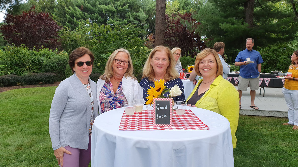 Landmark and RA faculty and staff enjoyed an outdoor reception